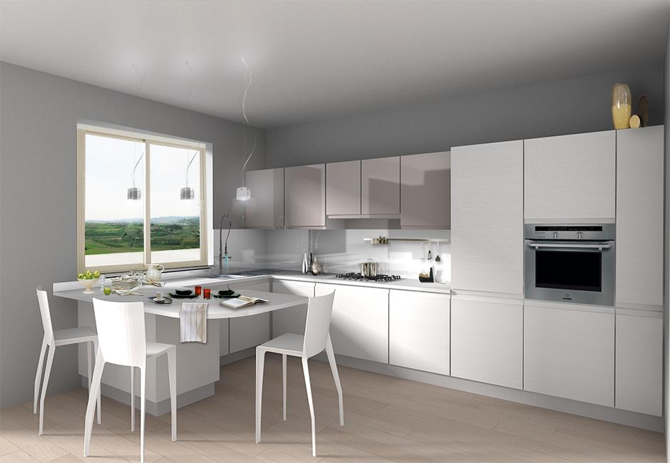 Progettare La Cucina In 3d. Cool Cucina Lineare Schema Tecnico ...